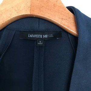 Lafayette 148 | Navy Blue zip up Blazer | Size L